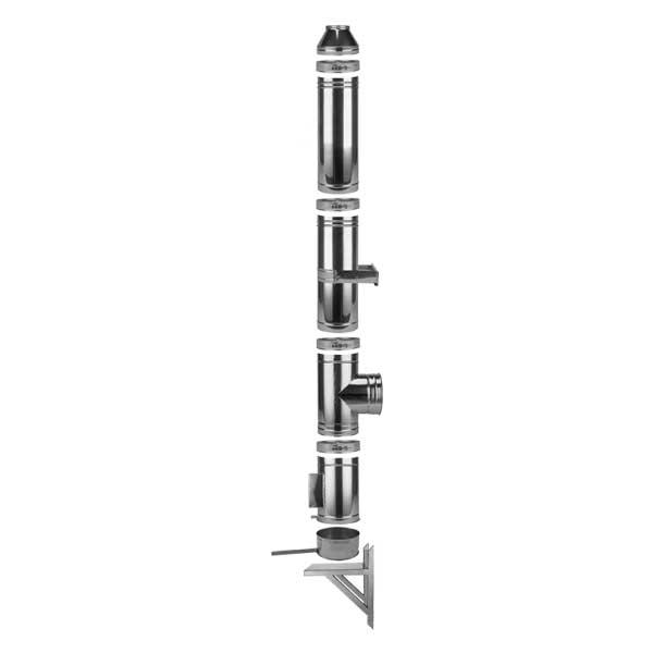 Nerezový trojvrstvový komínový systém